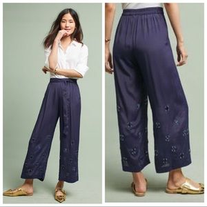 BNWT Anthropologie Bl-nk Caro Embellished Trousers